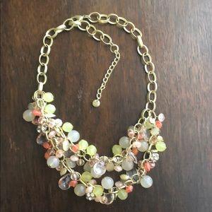 LOFT Jewelry - ANN TAYLOR LOFT 2 STRAND BEADS RHINESTONE NECKLACE